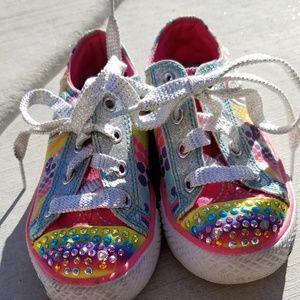 Rainbow Sketchers twinkle toes sneakers